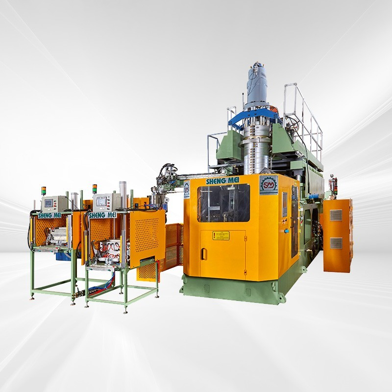 Special hollow blow molding machine for